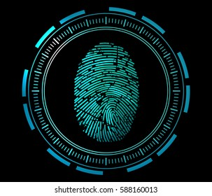 scanning of finger print