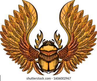 scarab beetle Egypt mythology Golden