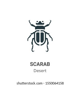 Scarab vector icon on white background. Flat vector scarab icon symbol sign from modern desert collection for mobile concept and web apps design.