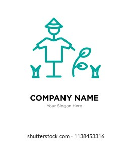 Scarecrow company logo design template, Scarecrow logotype vector icon, business corporative