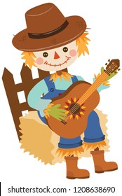 scarecrow with guitar