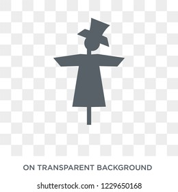 Scarecrow icon. Scarecrow design concept from Agriculture, Farming and Gardening collection. Simple element vector illustration on transparent background.