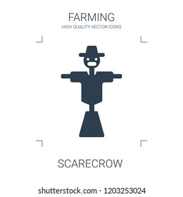 scarecrow icon. high quality filled scarecrow icon on white background. from farming collection flat trendy vector scarecrow symbol. use for web and mobile