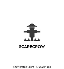 scarecrow icon vector. scarecrow vector graphic illustration