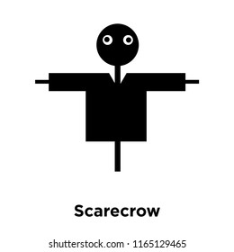 Scarecrow icon vector isolated on white background, Scarecrow transparent sign , black symbols