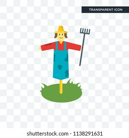 Scarecrow vector icon isolated on transparent background, Scarecrow logo concept