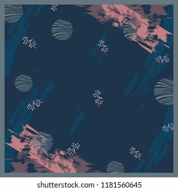 Scarf design on blue