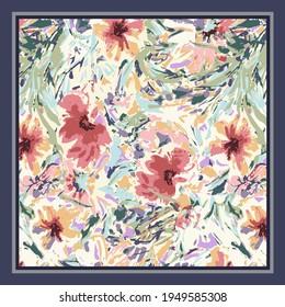 scarf design textile pattern illustration