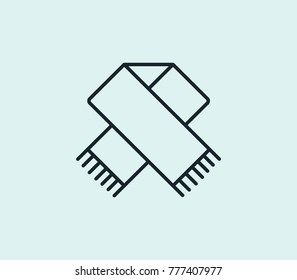 Scarf icon line isolated on clean background. Clothes concept drawing icon line in modern style. Vector illustration for your web site mobile logo app UI design.