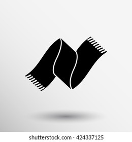scarf icon winter cold hat clothes season logo.