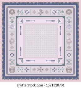 Scarf pattern with geometric ethnic element