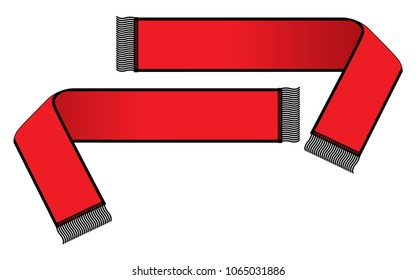 Scarf vector for template(Red/Black)