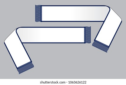 Scarf vector for template(White/Navy)