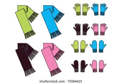 scarves gloves mittens