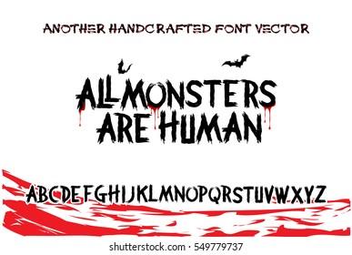 Imágenes, fotos de stock y vectores sobre Horror Font