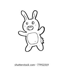 scary bunny rabbit cartoon