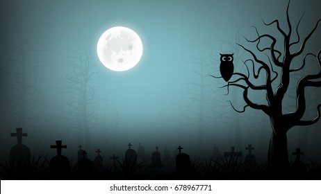 scary cemetery background