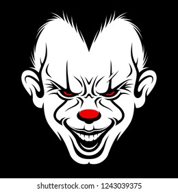 Scary Clown Face Vector
