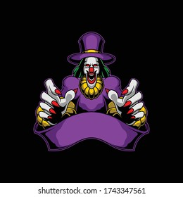 scary clown logo for commercial use