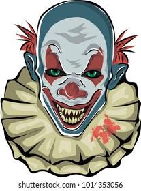 Scary clown. Vector illustration