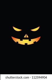 Scary face of halloween pumpkin. Vector