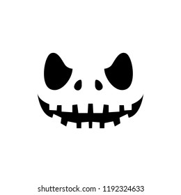 halloween pumpkin faces icons set scary stock vector royalty free