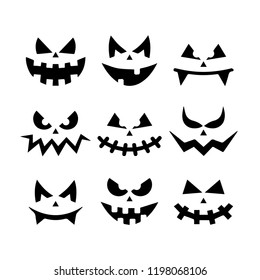 Scary faces halloween