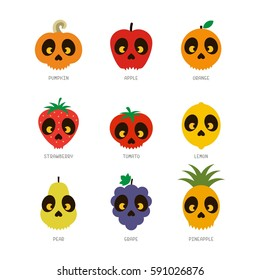 Scary fruit vector