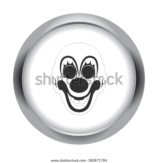 Scary Fun Clown Mask Simple Icon Stock Vector (Royalty Free