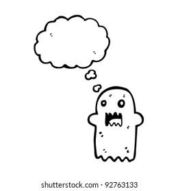 scary halloween cartoon ghost