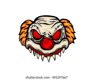 Scary Halloween Mask Costume - Evil Clown