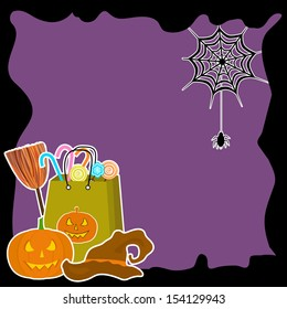 Scary Halloween night background can be use as flyer, banner or poster for Halloween night parties.