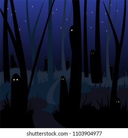 scary haunted forest