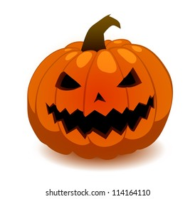 scary jack o lantern vector isolated