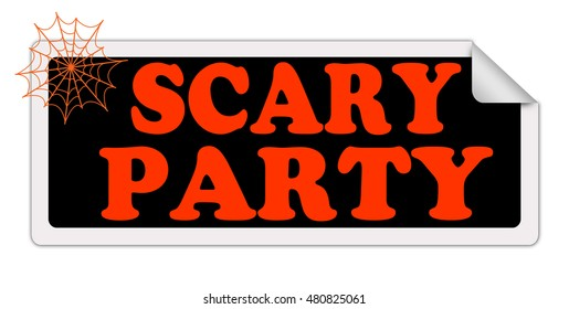 SCARY PARTY label.Vector
