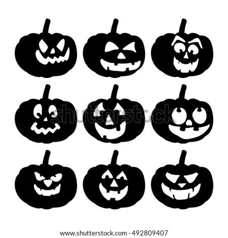 Scary Pumpkin Face Vector Symbol Icon Stock Vector Royalty Free