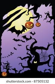 scary purple Halloween poster