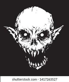 scary vampire Nosferatu in the dark creepy