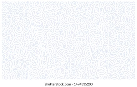 Scattered Geometric Line Shapes. Abstract Background Design. Vector Black and White Pattern.