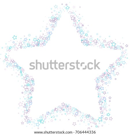 Scattered Star Frame On White Background Stock Vector (Royalty Free ...