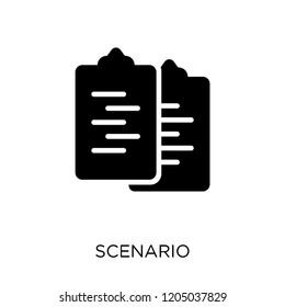 Scenario icon. Scenario symbol design from Cinema collection. Simple element vector illustration on white background.