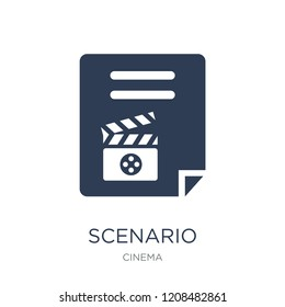 Scenario icon. Trendy flat vector Scenario icon on white background from Cinema collection, vector illustration can be use for web and mobile, eps10