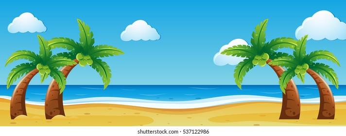 Beach Scene Clipart High Res Stock Images Shutterstock