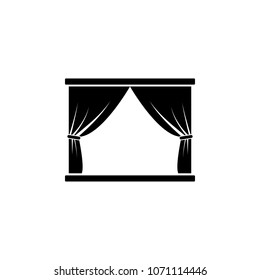 scene and curtains icon. Element of theater and art illustration. Premium quality graphic design icon. Signs and symbols collection icon for websites, web design, mobile app on white background
