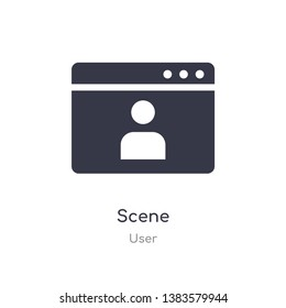 scene icon. isolated scene icon vector illustration from user collection. editable sing symbol can be use for web site and mobile app