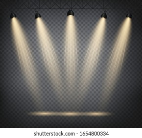 Scene illumination from above, transparent effects