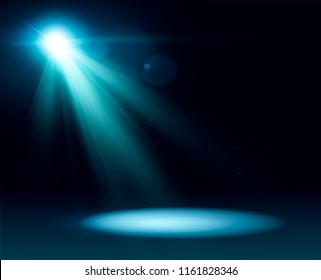 Scene illumination, transparent effects on a plaid dark background. Bright lighting with spotlights.eps10