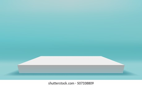 Scene On Studio Room Background Template. EPS10 Vector