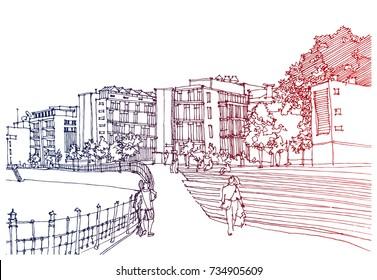 Draw City Stock Vectors Images Vector Art Shutterstock