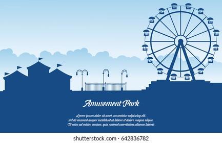 Scenery amusement park style background